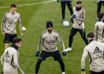 Pasukan Real Madrid saat menjalani latihan beberapa waktuu lalu. (f.Istimewa)