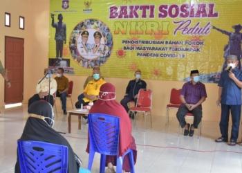 Bakti sosial NKRI peduli di Desa Bunuyo Kecamatan Paguat, Ahad (09/05/2021).(f.hms)