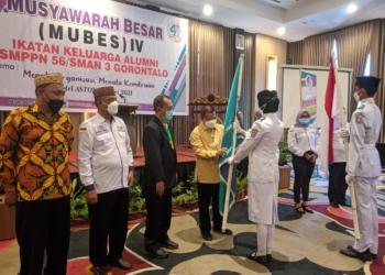 Musyawarah Besar (Mubes) IV Ikatan Keluarga Alumni (IKA) SMPPN 56 / SMAN 3 Gorontalo, di Aston Hotel Gorontalo, Sabtu (29/05/2021).