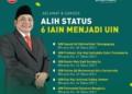 Dirjen Pendidikan Islam Kemenag RI Umumkan 6 Kampus IAIN yang beralih status jadi UIN. (f. Dirjen PI Kemenag)