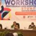 Bupati Gorut, Indra Yasin saat hadiri Workshop Penyusunan Aksi Konversi Stunting. (f. SL/nn)