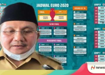 Wali Kota Gorontalo, Marten Taha menghimbau warga tak menggelar nonton bareng selama pegelara Euro 2020. (f. nn)