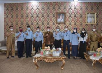 Pemda Pohuwato menerima kunjungan kerja Kakanwil Kemenkumham Provinsi Gorontalo.(f.hms)