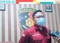 Kasatreskrim Polres Gorontalo, Iptu Muhammad Nauval Seno saat memberi keterangan terkait pembunuhan seorang wanita di Pentadio Barat. (istimewa/nn)