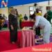 Prosesi serah terima jabatan Camat Patilanggio yang baruz Bani Imran Kaluku. (mus/nn)